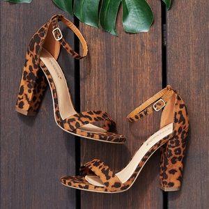 NIB Leopard Dress Sandals